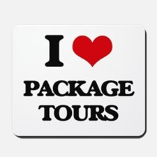 I Love Package Tours Mousepad