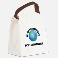 World's Happiest Screenwriter Canvas Lunch Bag