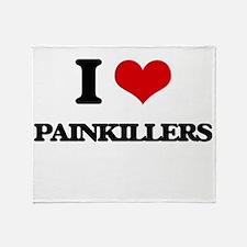 I Love Painkillers Throw Blanket