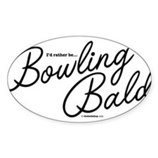 Bowling Bald Oval Decal