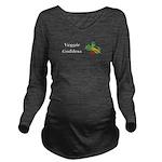 Veggie Goddess Long Sleeve Maternity T-Shirt