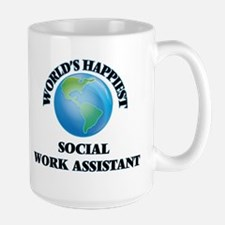 World's Happiest Social Work Assistant Mugs