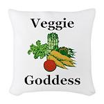 Veggie Goddess Woven Throw Pillow