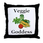 Veggie Goddess Throw Pillow