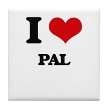I Love Pal Tile Coaster
