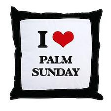 I Love Palm Sunday Throw Pillow