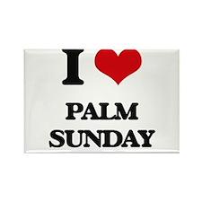 I Love Palm Sunday Magnets