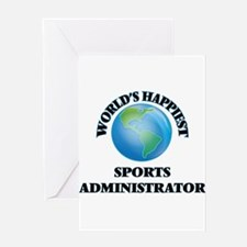 World's Happiest Sports Administrat Greeting Cards