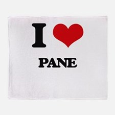 I Love Pane Throw Blanket