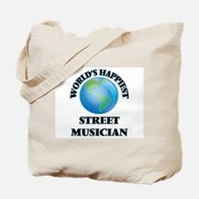 World's Happiest Street Musician Tote Bag