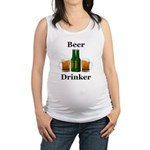 Beer Drinker Maternity Tank Top