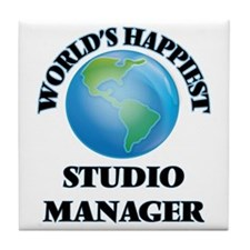 World's Happiest Studio Manager Tile Coaster