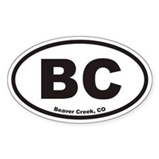 Beaver Creek Colorado BC Euro Oval Decal