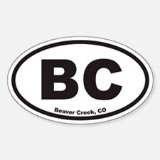 Beaver Creek Colorado BC Euro Oval Decal