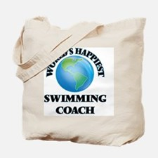 World's Happiest Swimming Coach Tote Bag
