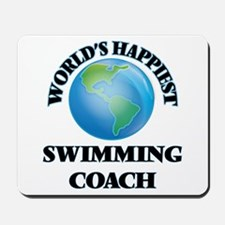 World's Happiest Swimming Coach Mousepad