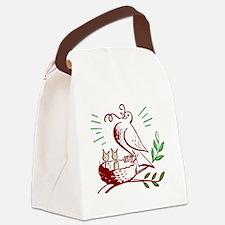 Bird Feeding Chicks Canvas Lunch Bag