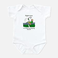 Right now soccer Infant Bodysuit