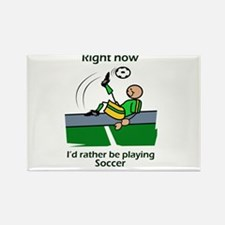 Right now soccer Rectangle Magnet