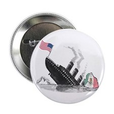 America the Titanic Button