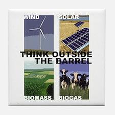 Think Outside the Barrel Tile Coaster