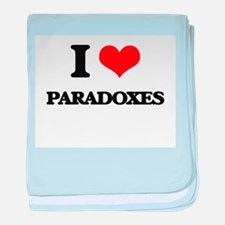 I Love Paradoxes baby blanket