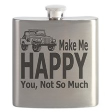 Jeeps Make Me Happy, You Not So Much Flask