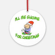Home For Christmas, Gnome Ornament (Round)