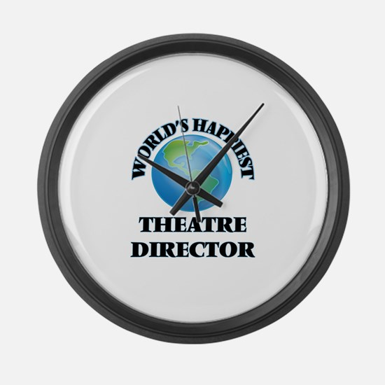 World's Happiest Theatre Director Large Wall Clock
