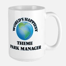 World's Happiest Theme Park Manager Mugs