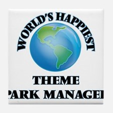 World's Happiest Theme Park Manager Tile Coaster