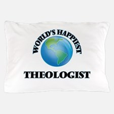 World's Happiest Theologist Pillow Case