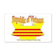 Vietnam Republic Flag Ribbon Wall Decal