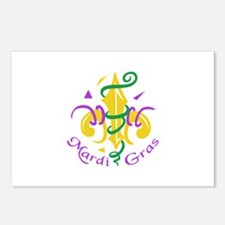 MARDI GRAS PARTY Postcards (Package of 8)