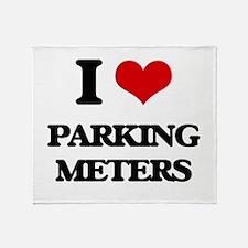 I Love Parking Meters Throw Blanket