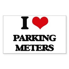 I Love Parking Meters Decal