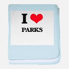 I Love Parks baby blanket