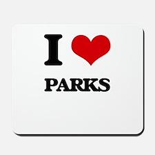 I Love Parks Mousepad