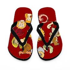 Leo Zodiac Flip Flops