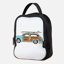 Light Blue Woody Neoprene Lunch Bag