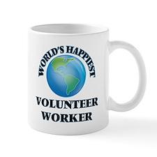World's Happiest Volunteer Worker Mugs