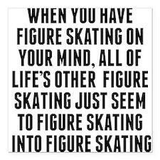 "Figure Skating On Your Mind Square Car Magnet 3"" x"