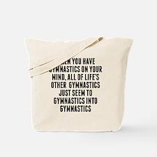 Gymnastics On Your Mind Tote Bag