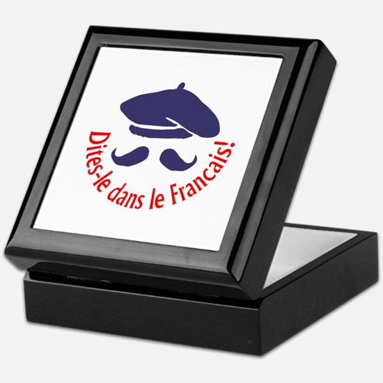 SAY IT IN FRENCH Keepsake Box