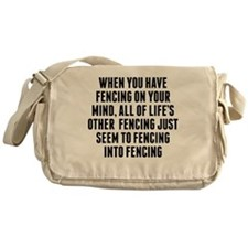 Fencing On Your Mind Messenger Bag