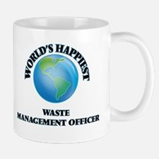 World's Happiest Waste Management Officer Mugs