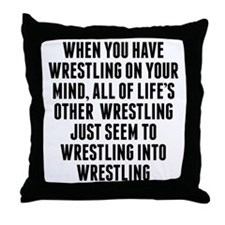 Wrestling On Your Mind Throw Pillow