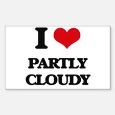 I love Partly Cloudy Decal