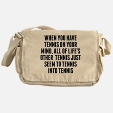 Tennis On Your Mind Messenger Bag