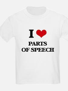I Love Parts Of Speech T-Shirt
